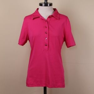 Tory Burch Pink Polo shirt with monogram buttons